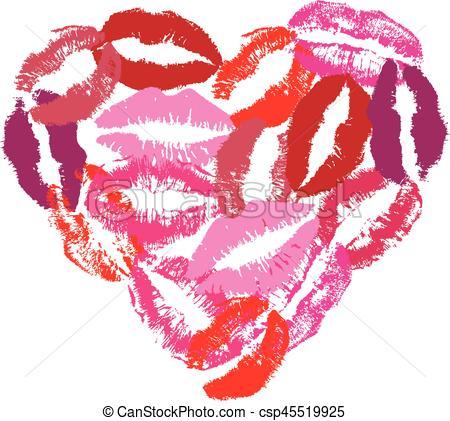 Lipstick clipart heart Illustration Heart Vector heart lipstick