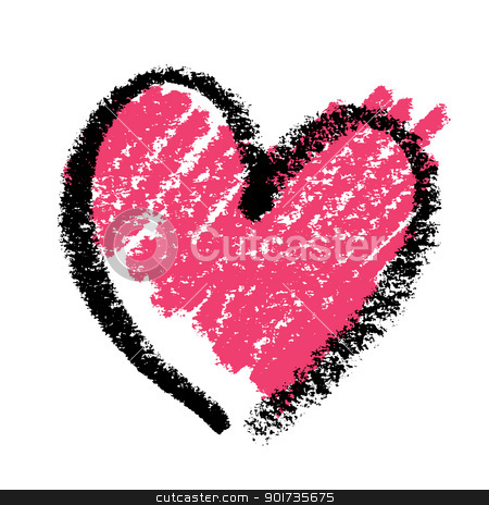 Lipstick clipart heart With pink painted with heart