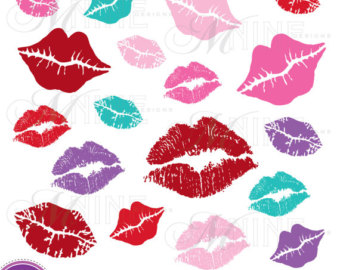 Lipstick clipart kissy lip Mark Kiss Art Kiss LIPS