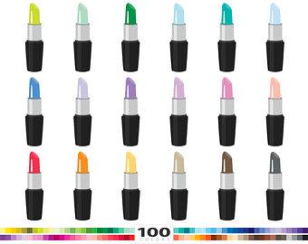 Lipstick clipart makeover Clip 100 colors clip art