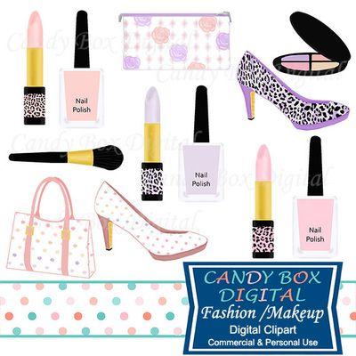 Makeup clipart makeup bag Boxes polish Fashion Clipart nail