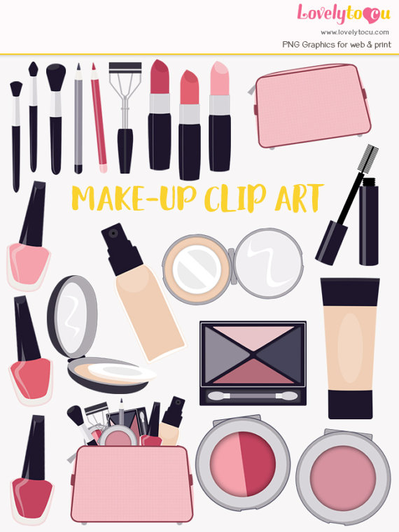 Makeup clipart makeup bag Lipstick polish clipart products products