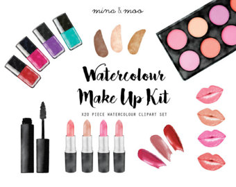 Makeup clipart cover photo Etsy clipart Watercolour makeup Makeup