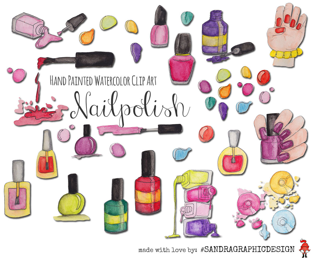 Nails clipart nail polish Clipart
