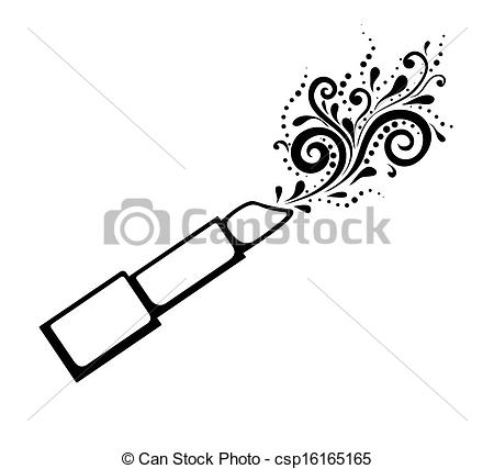 Lipstick clipart outline Of of and Art of