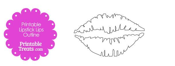 Lipstick clipart outline Lipsticks Outline Printable Treats Printable