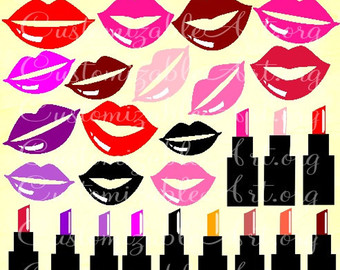Lips clipart printable Lipstick Lips Red Digital Art