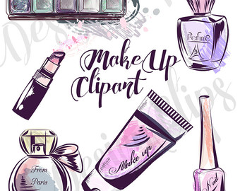 Makeup clipart cover photo Graphics clipart Etsy Blog Lipstick