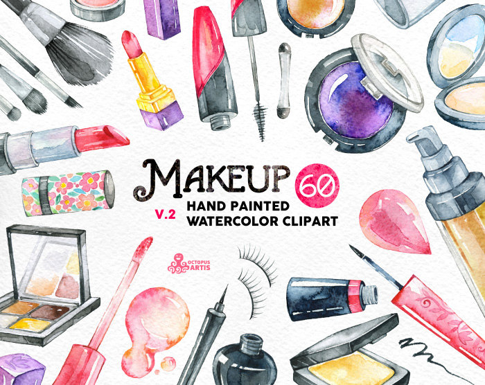 Makeup clipart perfume Make invite fashion elements painted