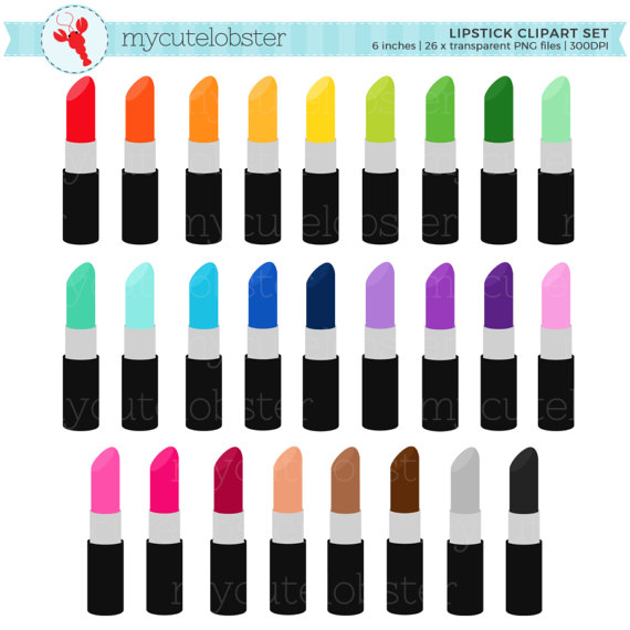 Lipstick clipart small Makeup lipstick up art rainbow