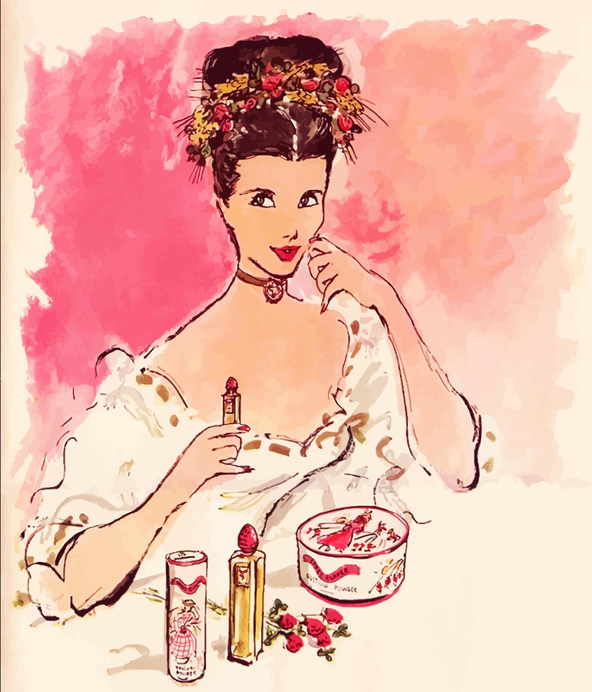 Lipstick clipart vintage makeup Makeup Vintage Makeup Advertisement Clipart