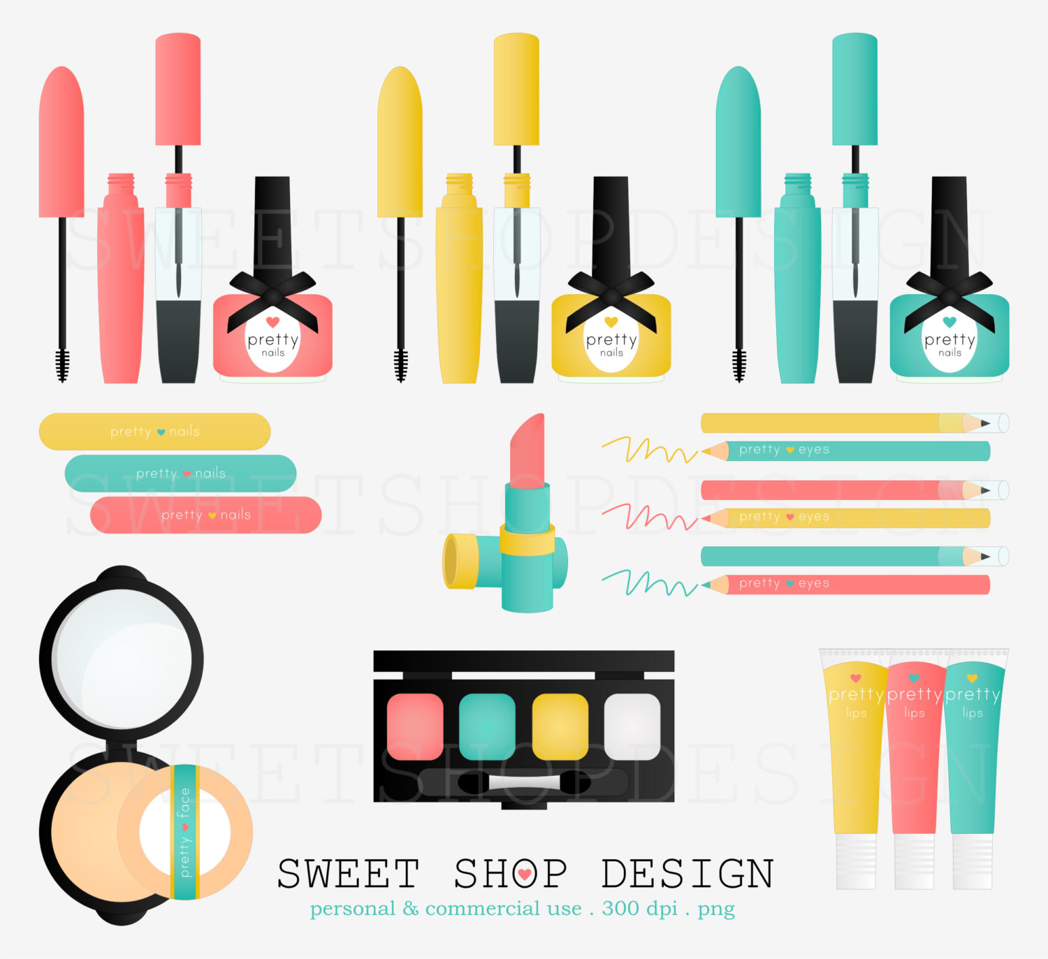 Lipstick clipart vintage makeup Things Royalty Free Instant Bridal