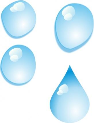Liquid clipart fluid Free on Droplets Drops Set