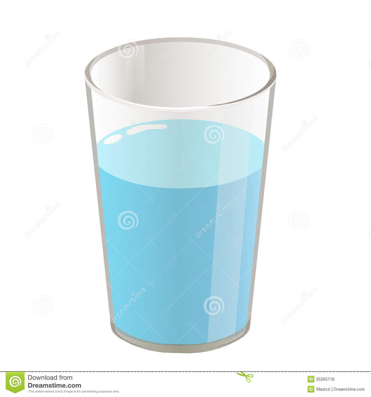 Blue Water clipart glass water — Water Clipartwork Images Of