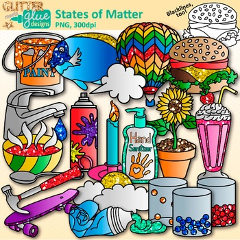 Science clipart matter 2 Clip Gas Common Art