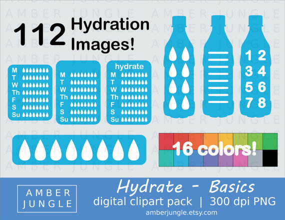 Bottle clipart hydration For Clipart Planner Instant Basics
