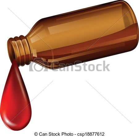 Bottle clipart cough syrup Light Illustration medicine of light
