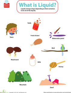 Liquid clipart natural science Mixup: a is Liquid? What's
