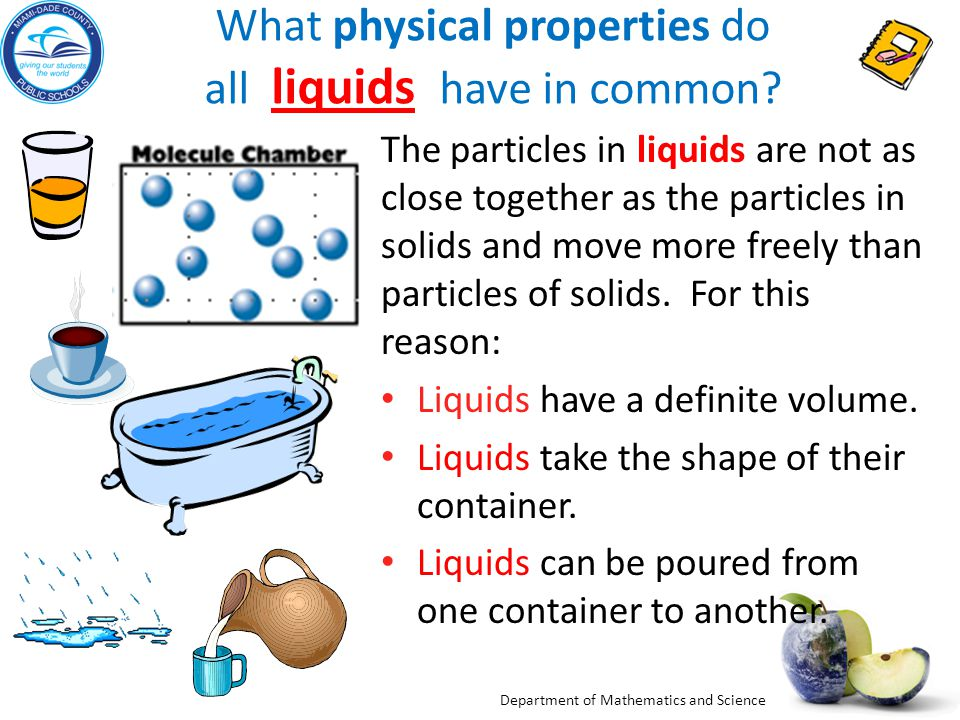 Liquid clipart physical property Liquids of Properties? ThingLink Video