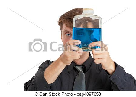 Liquid clipart physical property Man in liquid properties bottle