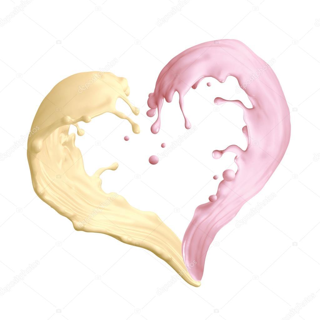 Liquid clipart strawberry milkshake Photo isolated — shape