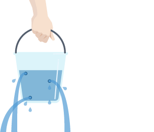 Liquid clipart water bucket Pouring bucket numerous A suspended