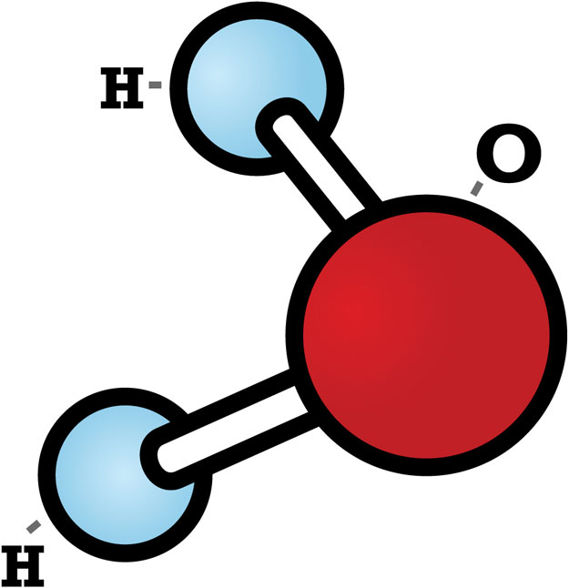 Liquid clipart water molecule Clusters charged molecules Clean Space