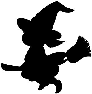 Witch clipart broom silhouette On silhouette by cartoon magic