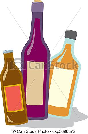 Liquor clipart Wine Vector csp5898372 types Wine