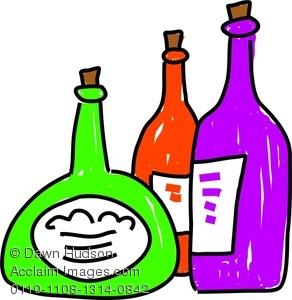 Wine clipart liquor bottle Bottles Group A of Whimsical