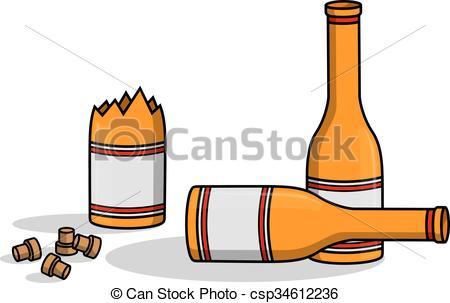 Liquor clipart german beer Bottle Vectors crash csp34612236 Clip