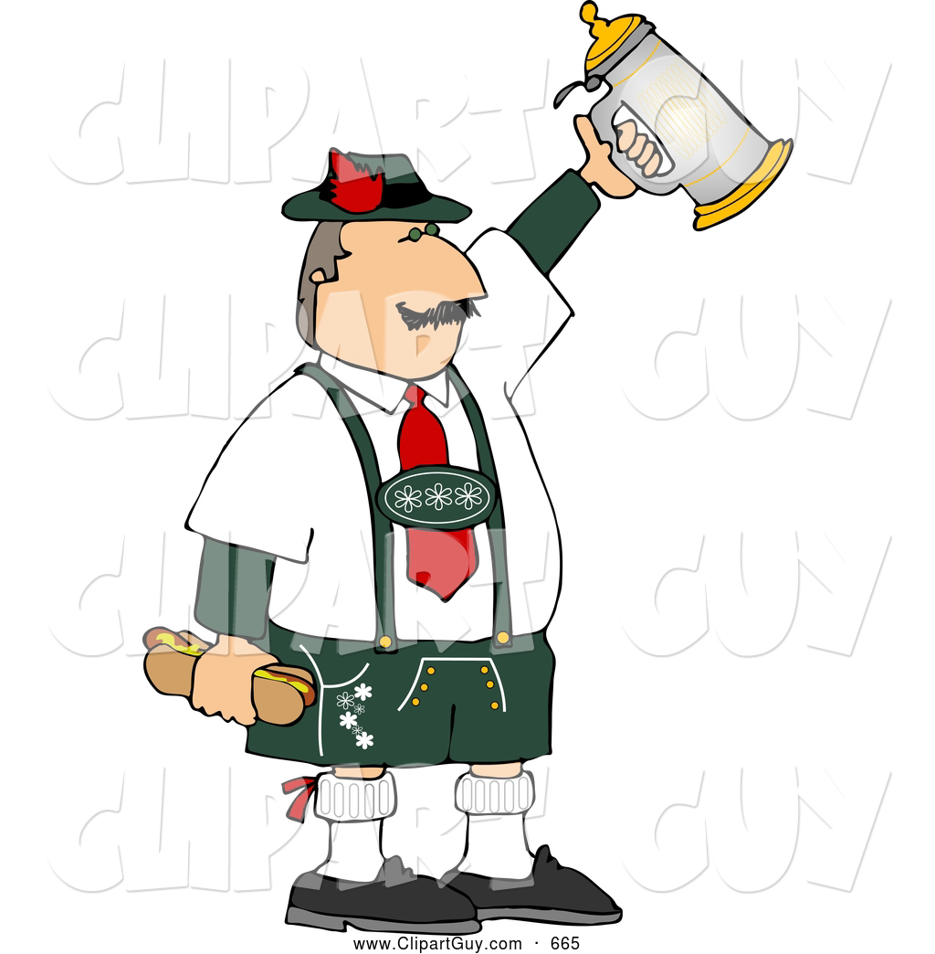 Liquor clipart german beer Stein Guy with Stock Celebrating