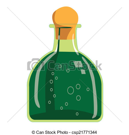 Bottle clipart tequila Green EPS of Vector green