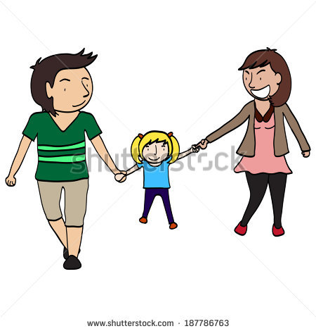 Little Boy clipart active Family cartoon active bonding activity