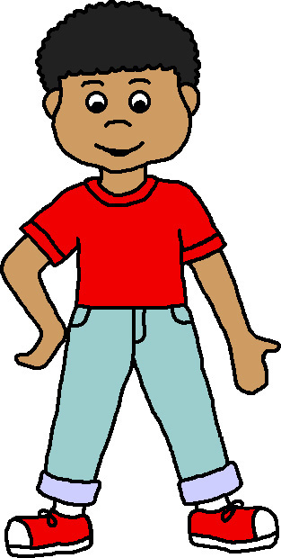 Color clipart child Black clipart Boy African Collection