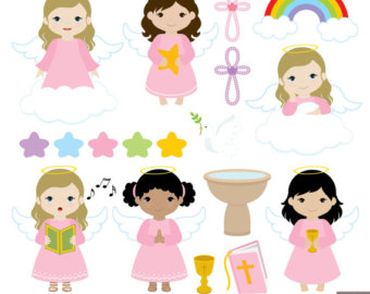 Little Boy clipart angel Set Clipart for collection clipart
