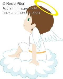 Little Boy clipart angel A Angel Art Sitting Of