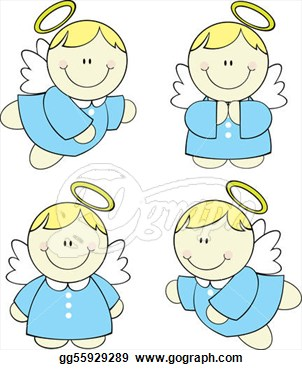 Angel clipart line art Blond  free baby Sleeping