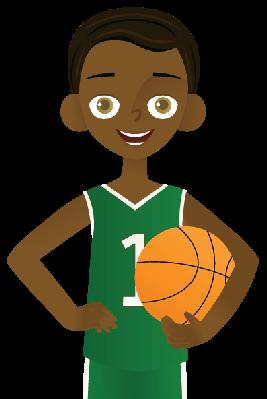 Little Boy clipart basketball player Image Arts PBS Little Clipart