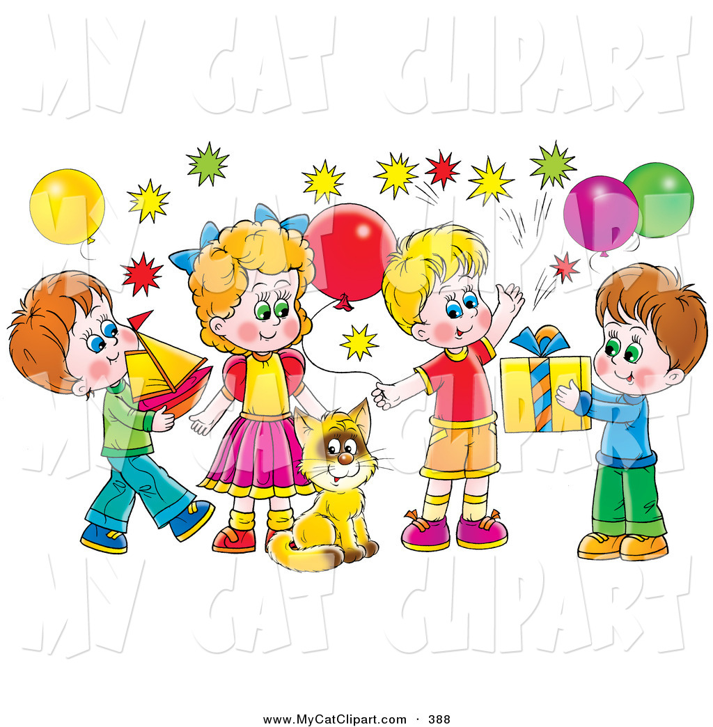 Decoration clipart celebration Cat Designs a Balloons Children