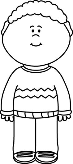 Coat clipart kid sweater Kid White Black Black and