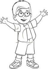 Little Boy clipart black and white White Design images Boy Clip