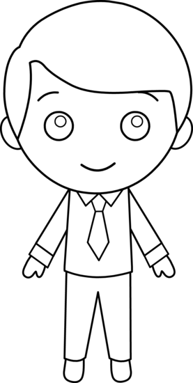Little Boy clipart black and white Guy Black And Boy Clip
