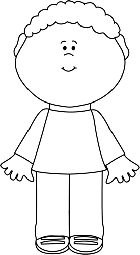 Little Boy clipart black and white And Images Kids Clip Kids