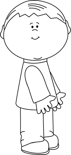 Little Boy clipart black and white And Kids Boy Kids Art