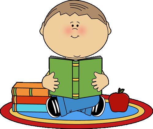 Comics clipart boy reading a book #8