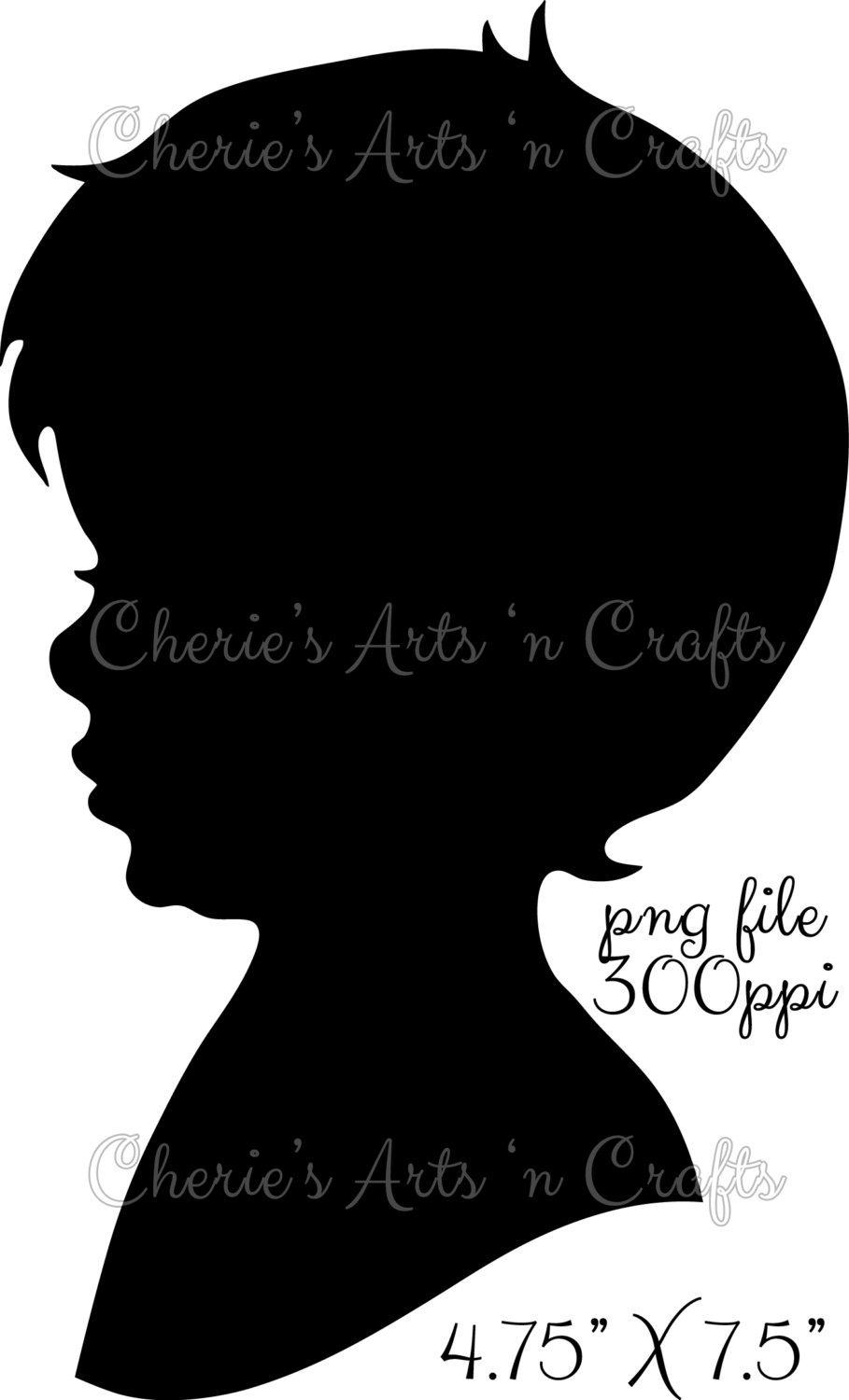 Little Boy clipart boy head Little Little Silhouette Silhouettes PNG