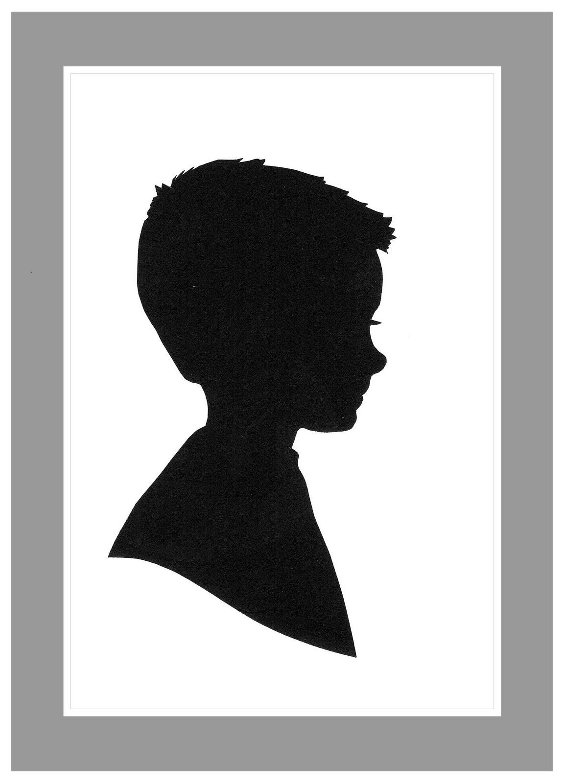 Little Boy clipart boy head Art Silhouette Clip Boy Free