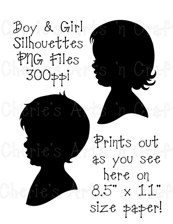 Little Boy clipart boy head Boy Boy Graphic on Silhouettes