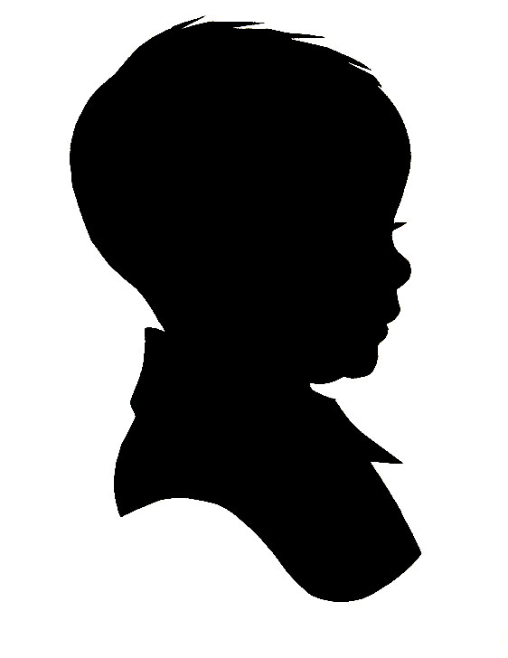 Shaow clipart little boy Free Download Clip Silhouette Head